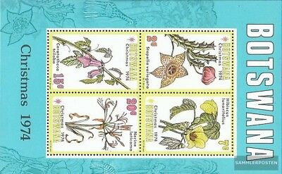 Flora Topical Stamps Botswana 258-261 Mint Never Hinged Mnh 1980 Christmas