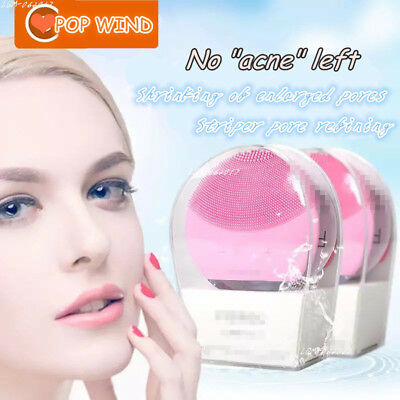 Silicone Mini Rechargeable Sonic Brush Power Perfect Pore Facial Cleansing HOT