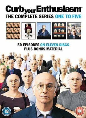 Curb Your Enthusiasm : Complete HBO Seasons 1 To 5 Box Set [DVD] -  CD W4VG The