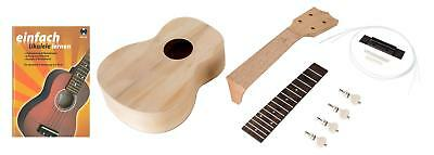 Ukulele Bausatz Sopran Uke selber bauen Do It Yourself Set DIY Kit Ukuleleschule