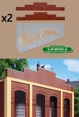 Bnib Oo Ho Auhagen 80404 Brick Gable Roof End / Attic Red