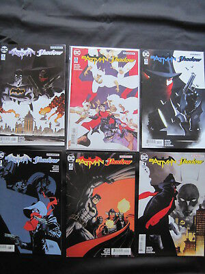 BATMAN / SHADOW : COMPLETE 6 issue DC / DYNAMITE 2017 series by SCOTT SNYDER etc