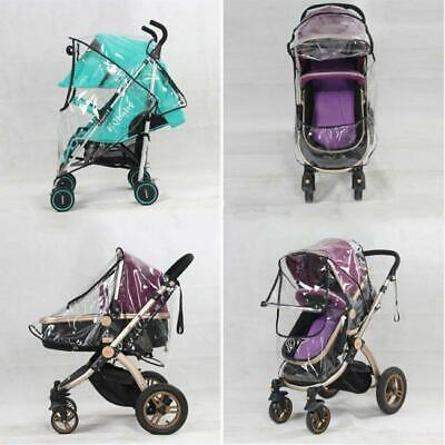 Universal Buggy Pushchair Stroller Pram Transparent Rain Cover Baby Raincover C