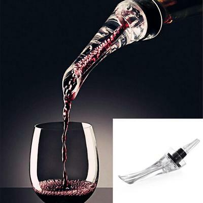 1Pc Red Wine Aerator Pour Spout Bottle Stopper Decanter Pourer Aerating New C