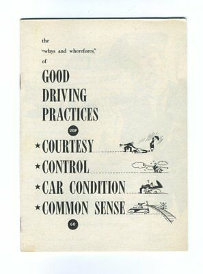 GOOD DRIVING PRACTICES 1949 Booklet Educational Services CHRYSLER CORP