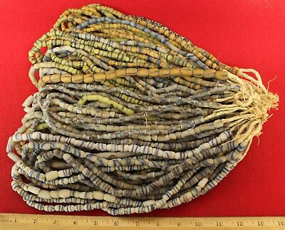 Bundle of (50) Strands of Sandcast Trade Beads #7....Buy It Now