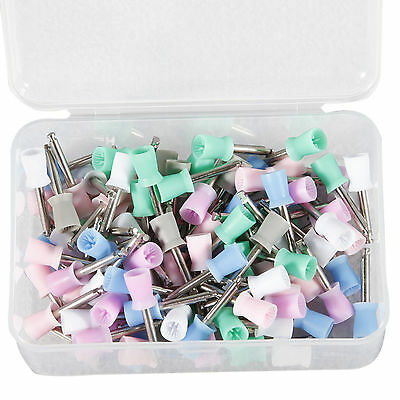 100pcs New Mixed Dental Tooth Prophy Polish Polishing Cups Latch Type Rubber Ca