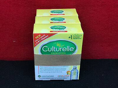 3x Culturelle Pro-Well Probiotic Immune+Energy  20 Packets each - Expired 1/19