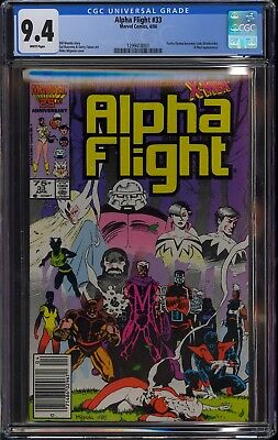 Alpha Flight #33 (1984) CGC 9.4 NM 1st App. Lady Deathstrike Mike Mignola cover