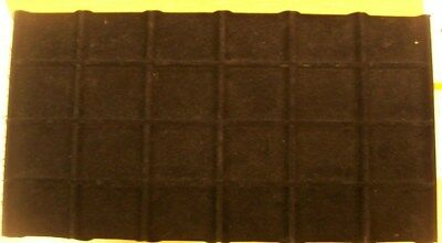 Jewelry Display Fixtures 2 NEW 32 COMPARTMENT TRAY LINER INSERTS BLACK VELVET