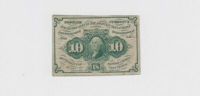Fractional Currency Civil war era item to the 1870s lower grade