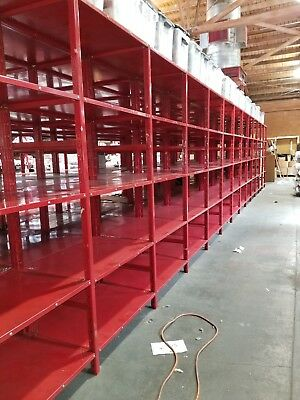 """Industrial Steel Shelving 87"""" x 36"""" x 30""""/unit - set of 3 (up to 15 units)"""