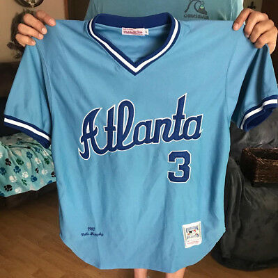 big sale c71b0 565e4 DALE MURPHY ATLANTA Braves Light Blue Jersey Size Adult L