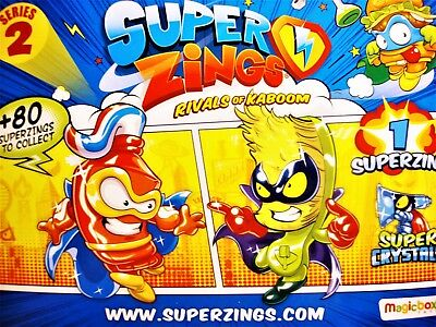 Superzings Rivals of Kaboom - Series 2 - CHOOSE Figures 123-160 - P&P 90p MAX!