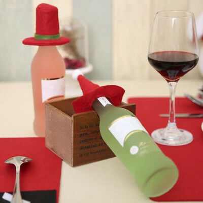 New Merry Christmas Santa Wine Bottle Bag Cover Xmas Dinner Party Tables Decor