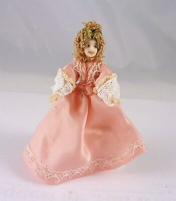 Estate Sale Dollhouse Miniature HALF SCALE 1:24 Fancy Lady in Pink