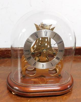 small sized skeleton mantel clock