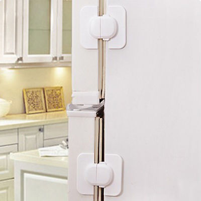Kids Safety Door Lock Proof Cupboard Fridge Cabinet Child Prevent Clamping H7