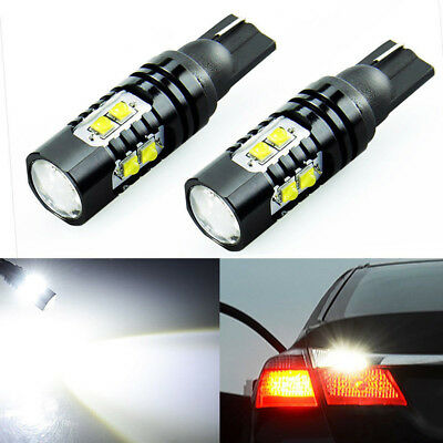 2 x 50W 921 912 T10 T15 LED 6000K HID White Car Backup Reverse Lights Bulb New