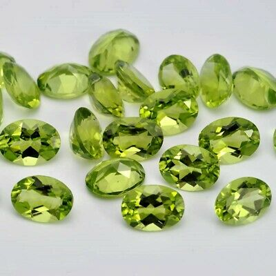 Wholesale Lot of 9x7mm Oval Facet Cut Natural Peridot Loose Calibrated Gemstone