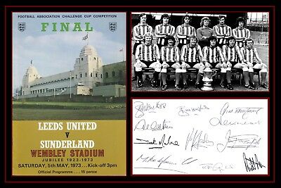 Photograph/Photo/Presentation/Print/Sunderland/1973/Signed by Team/FA Cup Final