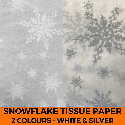 Printed Snowflake Acid Free Tissue Paper - Gift Wrapping Christmas Pattern