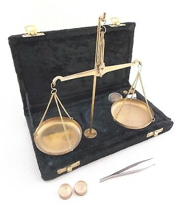 Brass Trade Scale..grams..pennyweights...estate Sale Find..vintage..low Ship