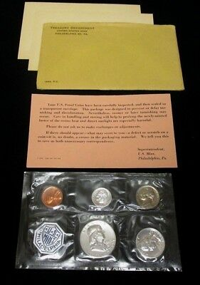 1963 Us Mint Proof Coin Set ***90% Silver Half Quarter Dime*** Original Envelope