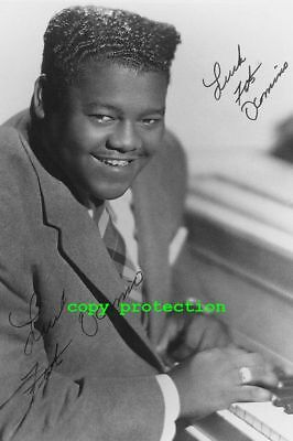 1647 Fats Domino, Blueberry Hill, Autogramm Foto