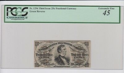 Fractional Currency Civil War era item to 1870's Green Back PCGS Graded ef 45