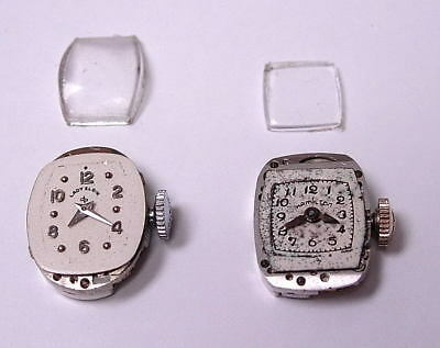 Vintage Watch Movements - Elgin And Hamilton - Working With 2 Matching Crystals