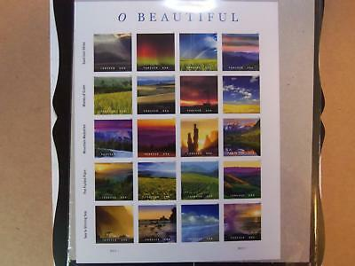 Us Mnh # 5298 A-T  O Beautiful America  2018 Pane Of 20 Forever Stamps