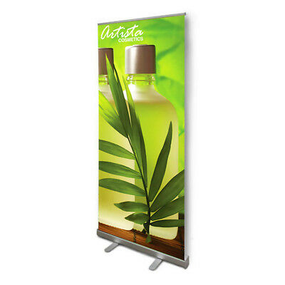 """NEW Retractable Pull Up Banner Stand 33"""" WITH PRINTING- HIGHEST QUALITY!!"""