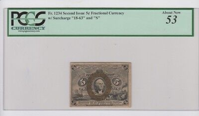 Fractional Currency Civil War era item to 1870's  PCGS Graded about new 53