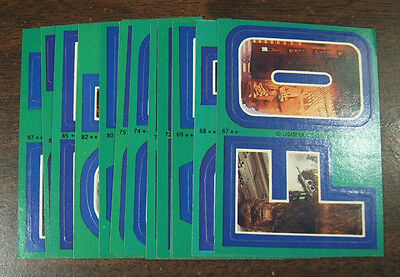 1980 Topps Star Wars Empire Strikes Back Series 3 Complete 22 Green Sticker Set
