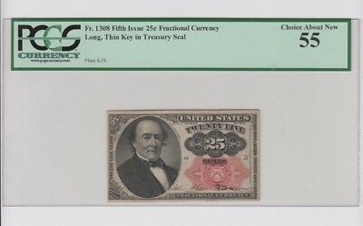 Fractional Currency Civil War era item to 1870's PCGS Graded choice about new 55
