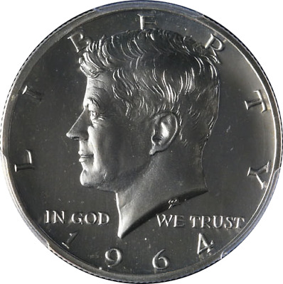 1964-P Kennedy Half Dollar PCGS PR67CAM Proof Accented Hair Blast White - Stock