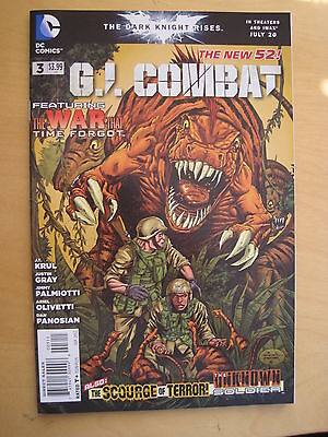 G.I. COMBAT  3 by KRUL, GRAY, PALMIOTTI etc. 1st print. The NEW 52. DC 2012