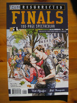 FINALS 1. 100 page ONE-SHOT. By PFEIFER & JILL THOMPSON.VERTIGO RESURRECTED.2011