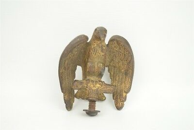 """Vintage Solid Cast Brass Perched Eagle Pole Topper Clock Finial 2-1/2"""""""