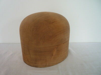 Good Vintage Milliners Wood Hat Block Mould Shop Display Industrial Size 21 1/2
