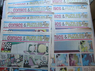 West Chester PA Daily Local Sunday COMICS - 1997/1998 Pages, 10 Sections