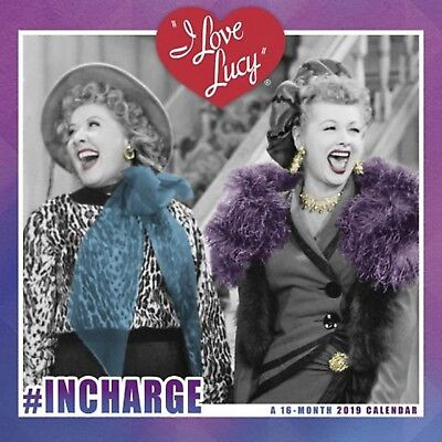I love Lucy In Charge 12 x 12 Wall Calendar 2019