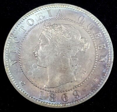 Jamaica 1869 1/2 Half Penny KM 16 in Brilliant Uncirculated Only 192,000 Minted!