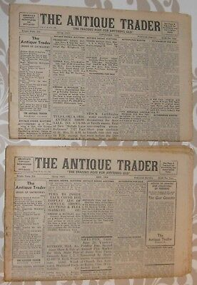 Antique Trader newspaper 1962 May and September lot of 2, complete free shipping