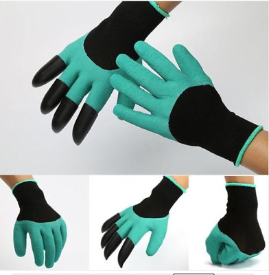 Garden Gloves for Digging & Planting with 4-8 ABS Plastic Claws gardening gloves