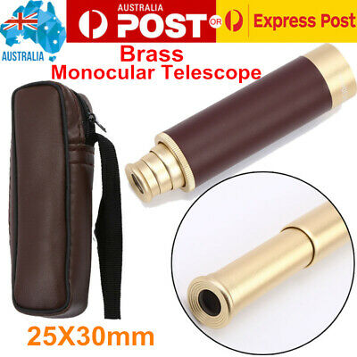 25X30mm Brass Monocular Telescope Spyglass Nautical Maritime Vintage Monoscope