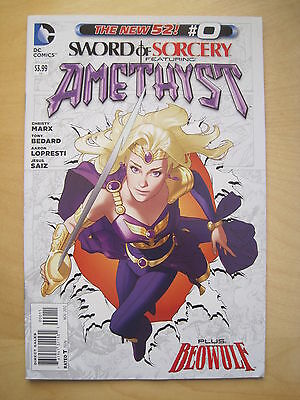 SWORD of SORCERY featuring  AMETHYST   #  0.  1st PRINT. THE NEW 52!  DC. 2013