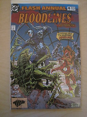 The FLASH  : ANNUAL #  6 : BLOODLINES. ALL FLASH.1st  PRINT.DC.1993