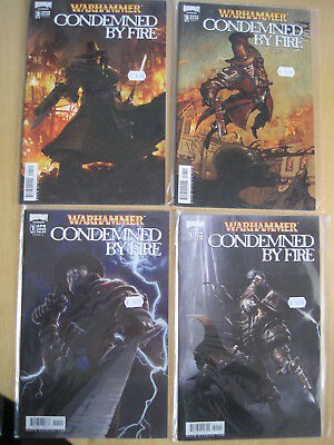 WARHAMMER, CONDEMNED by FIRE : issues 1A, 1B, 2A, 2B of 5 issue 2008 Boom series